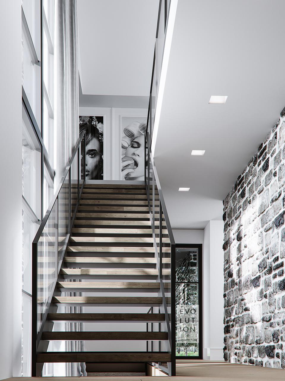 escalier de la maison MF+JF